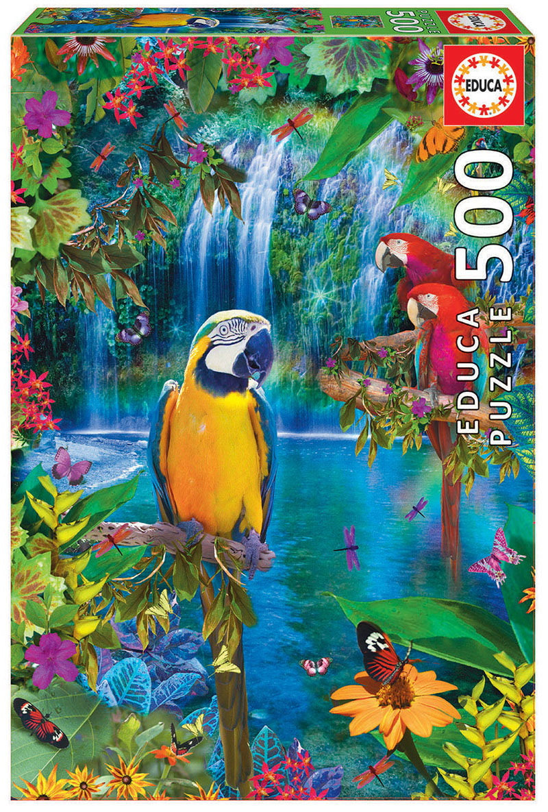 Puzzle 500 piese - Bird Tropical Land | Educa