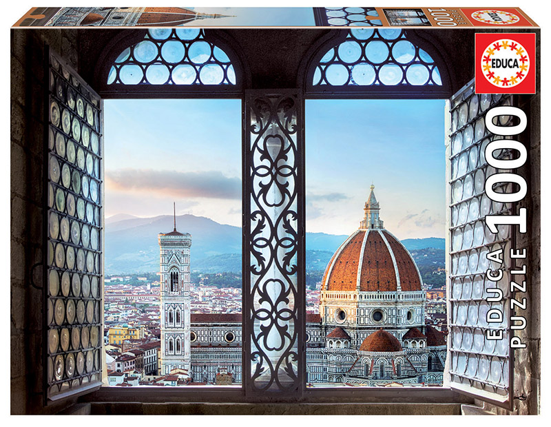 Puzzle 1000 piese - Views of Florence, Italy | Educa