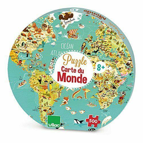 Puzzle 500 piese - Harta Lumii | Vilac