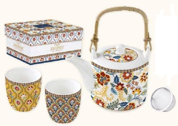 Set ceainic cu 2 cesti - Paisley Abundance