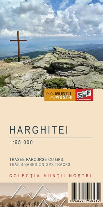Harta de drumetie - Muntii Harghitei