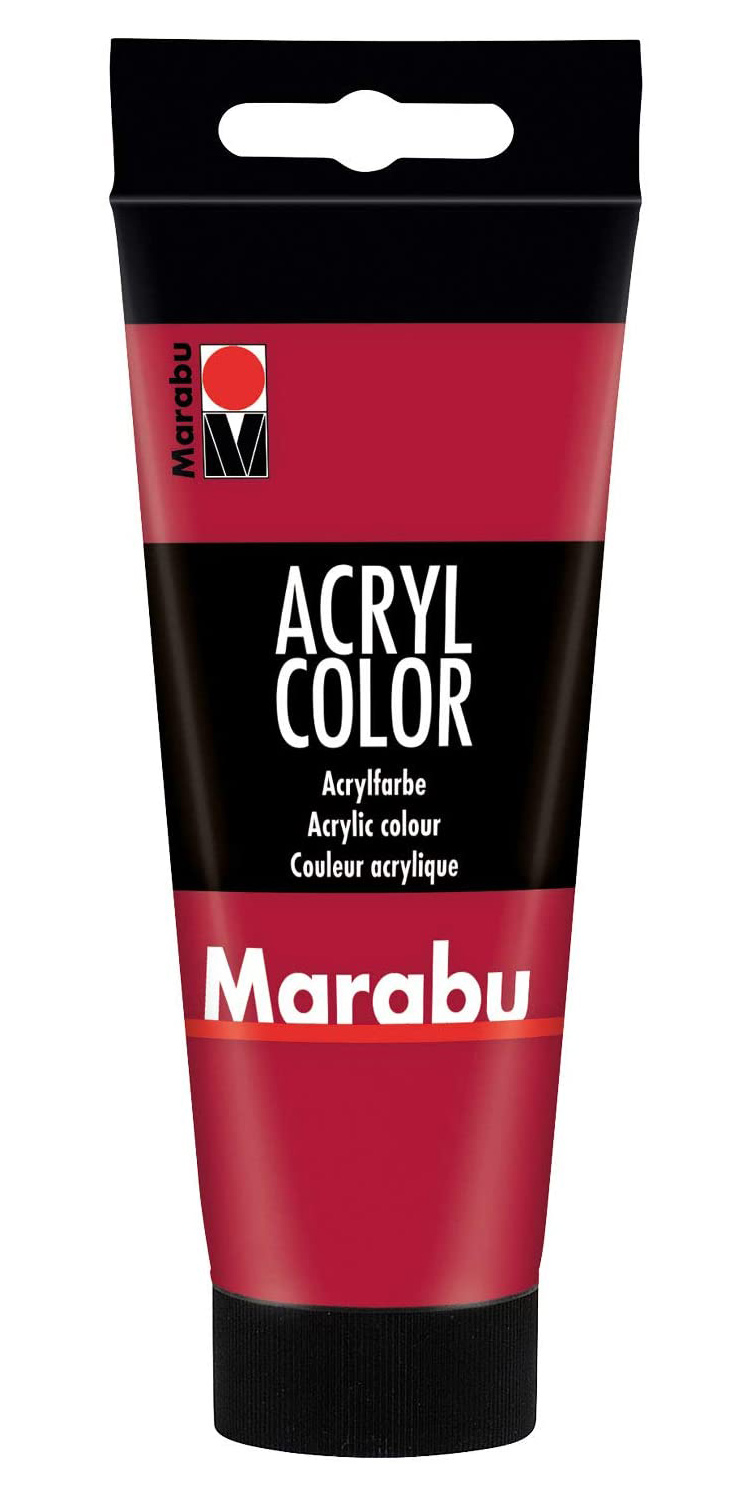 Vopsea - Marabu Acryl Color, 032 Carmine Red, 100ml