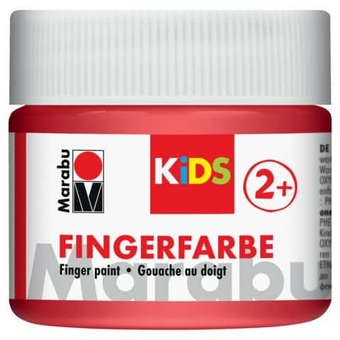 Vopsea - Marabu Finger Paint Kids, 232 Red, 100ml