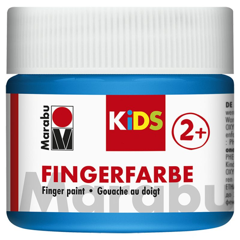 Vopsea - Marabu Finger Paint Kids, 253 Blue, 100ml