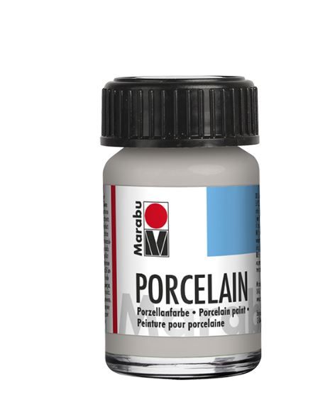Vopsea - Porcelain Paint 782 - Metallic Silver, 15 ml
