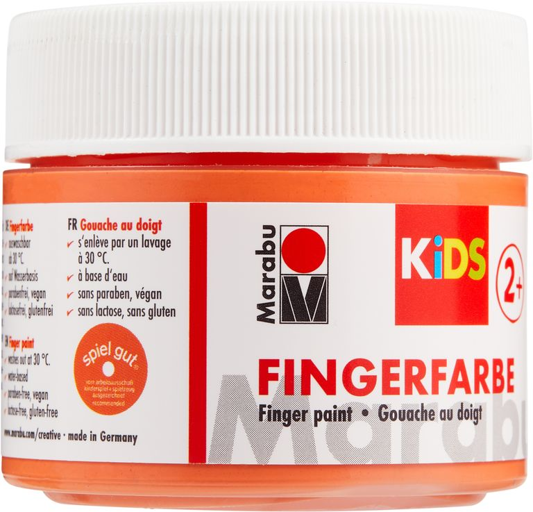 Vopsea - Marabu Finger Paint Kids, 013 Orange, 100ml