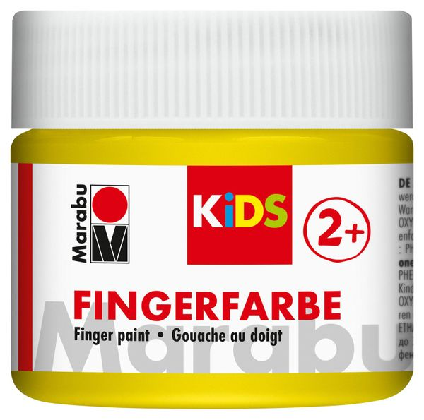Vopsea - Marabu Finger Paint Kids, 019 Yellow, 100ml