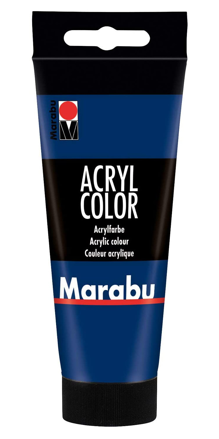 Vopsea - Marabu Acryl Color, 055 Dark Ultramarine, 100ml