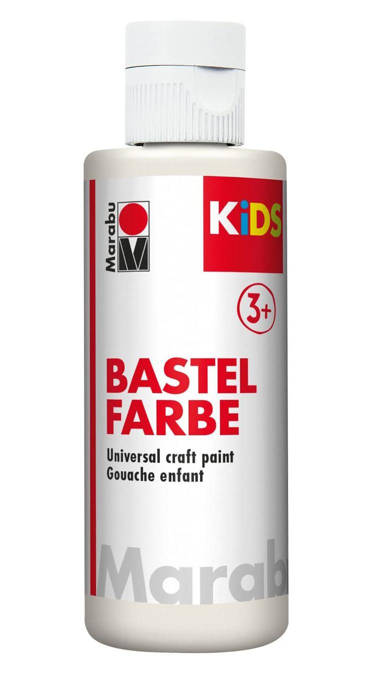 Vopsea pentru copii - Marabu Kids Bastel Fabre, 070 White, 80ml