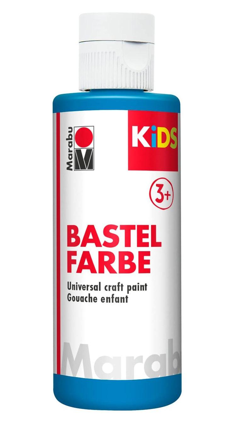 Vopsea pentru copii - Marabu Kids Bastel Fabre, 095 Azure Blue, 80ml