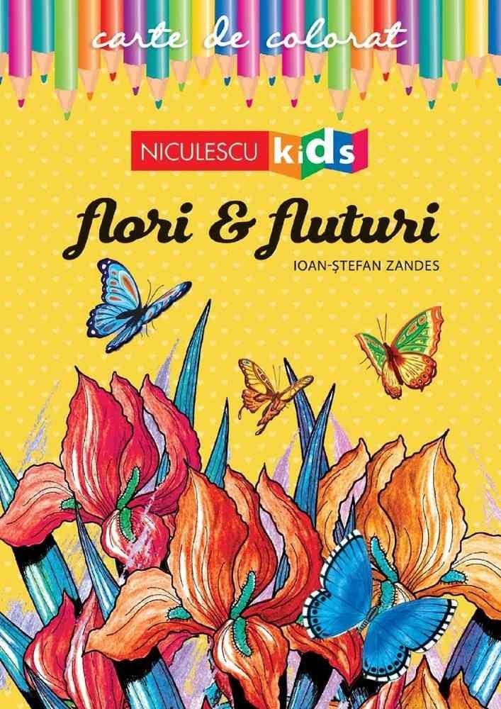 Carte de colorat - Flori si fluturi | Ioan-Stefan Zandes