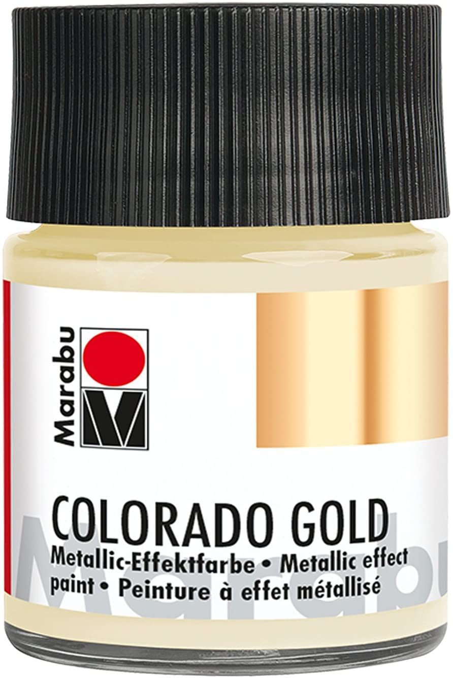 Vopsea - Marabu Colorado Gold, 799 Metalic Satin, 50ml