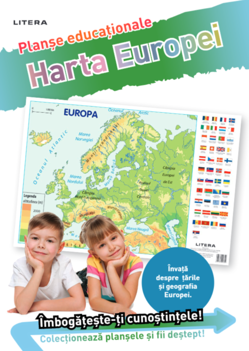 Harta Europei. Planse educationale |