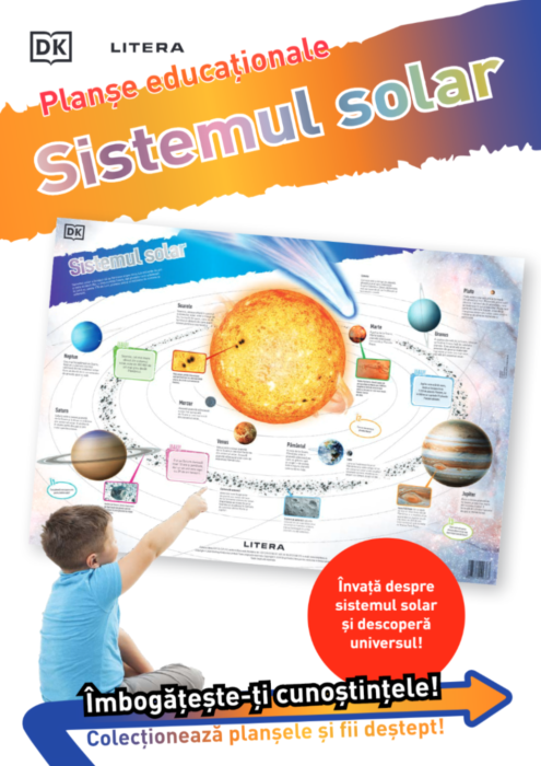 Sistemul solar. Planse educationale |