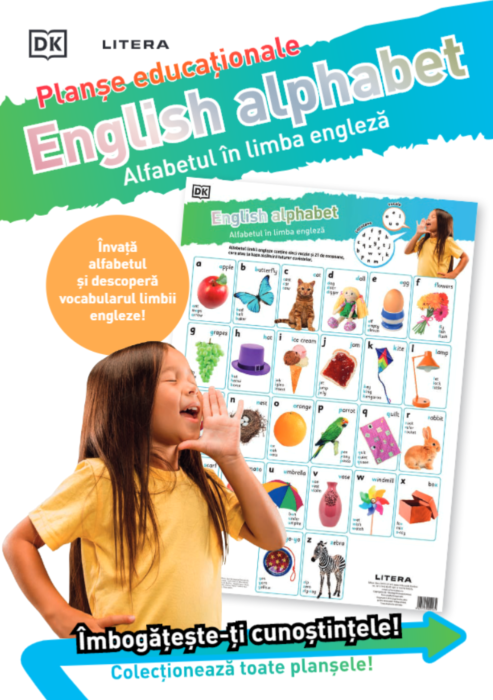Alfabetul in engleza. Planse educationale |