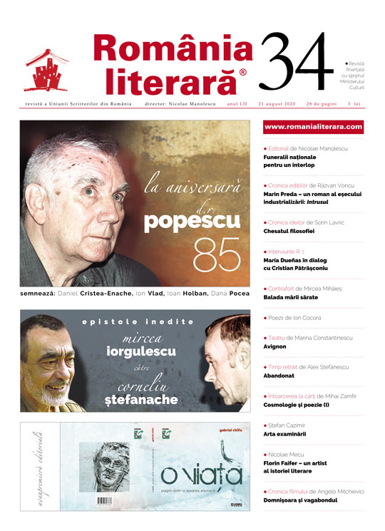 Romania literara nr. 34/2020