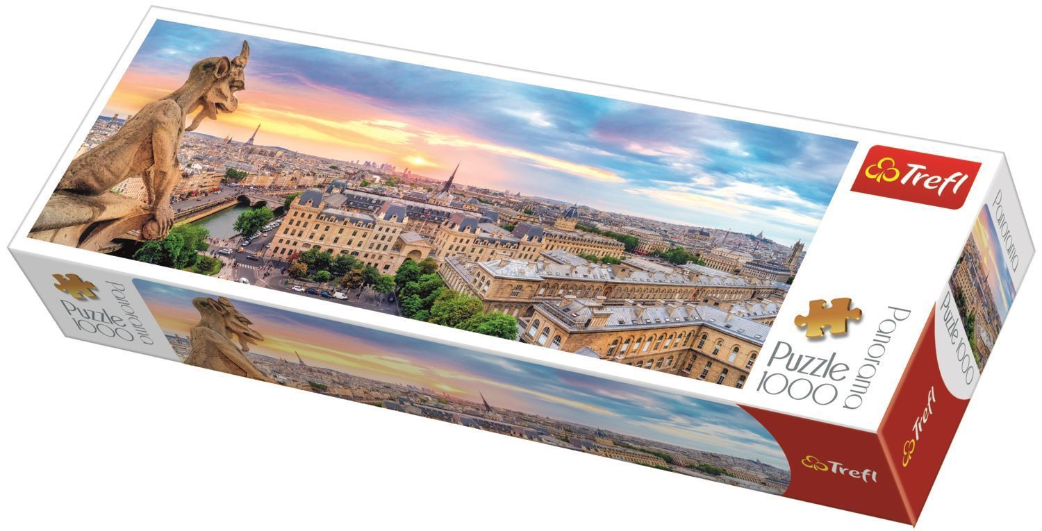 Puzzle panoramic 1000 piese - Notre Dame Paris Cathedral France | Trefl