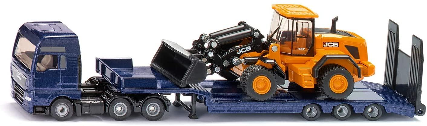 Jucarie - Man Tgx with low loader truck and JCB wheel loader | Siku