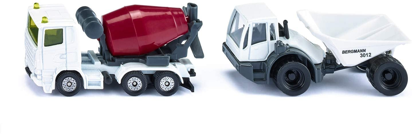 Jucarie - Dumper and Concrete Mixer - White and Red | Siku