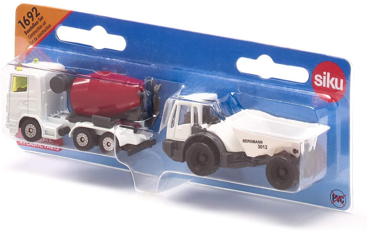 Jucarie - Dumper and Concrete Mixer - White and Red | Siku - 1