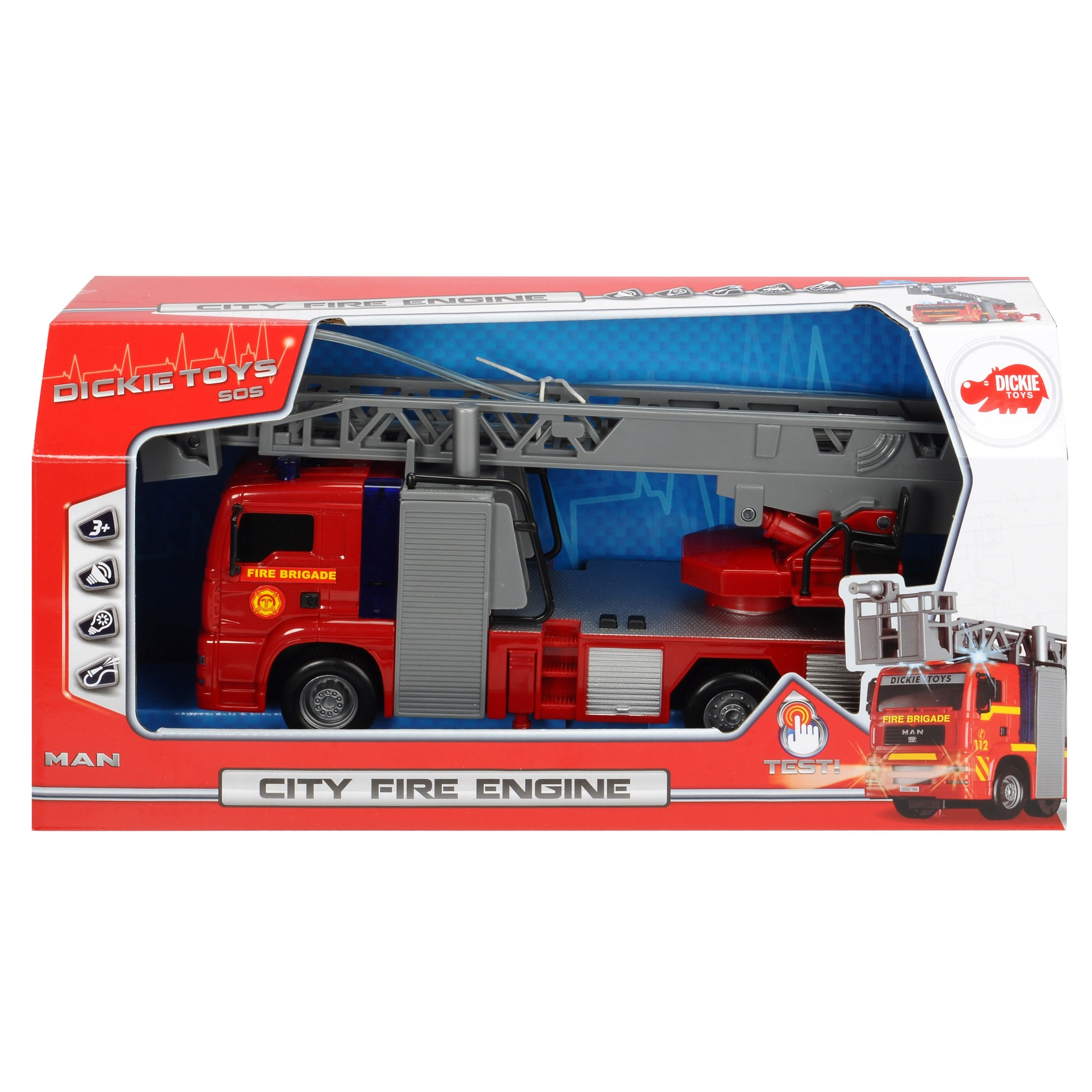 Masina de pompieri - City Fire Engine | Dickie Toys
