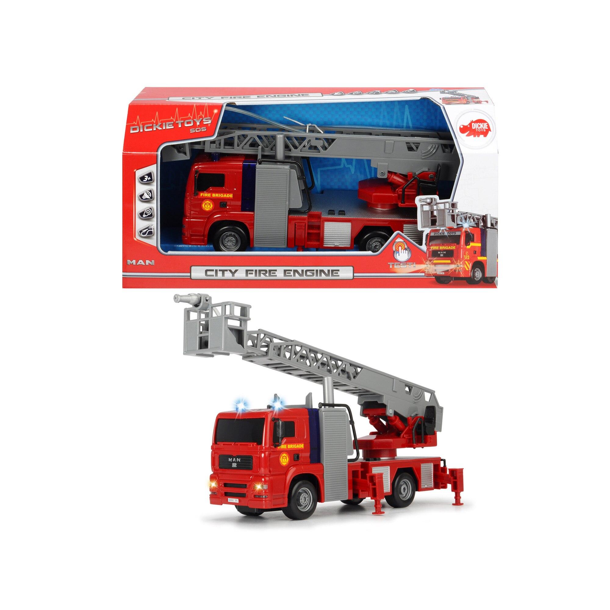 Masina de pompieri - City Fire Engine | Dickie Toys - 4