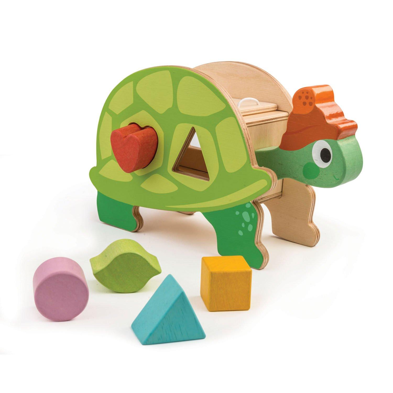 Jucarie din lemn - Tortoise Shape Sorter | Tender Leaf