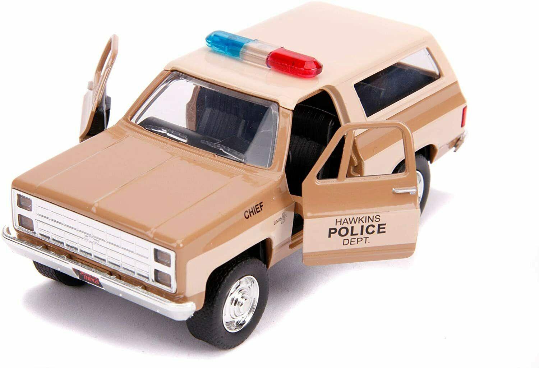 Masinuta - Hopper's 1980 Chevy K5 Blazer, Stranger Things   Jada Toys - 2