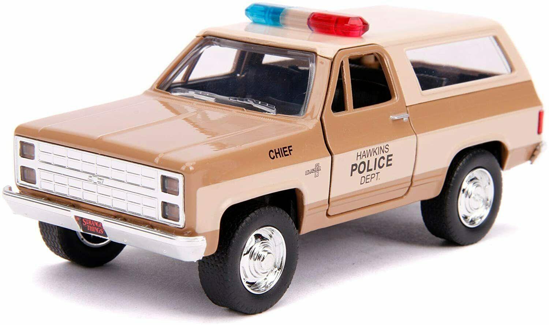 Masinuta - Hopper's 1980 Chevy K5 Blazer, Stranger Things   Jada Toys - 1