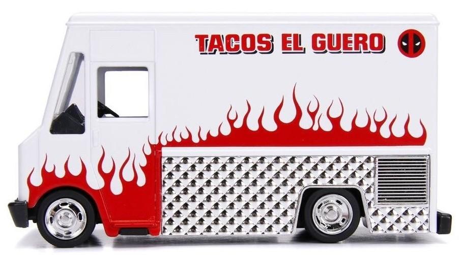 Masinuta - Food Truck Deadpool, Tacos El Fuegos   Jada Toys - 1