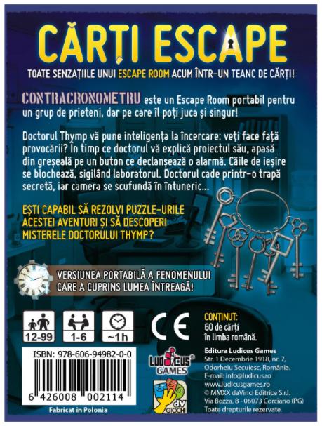 Joc - Escape - Contracronometru | DV Giochi