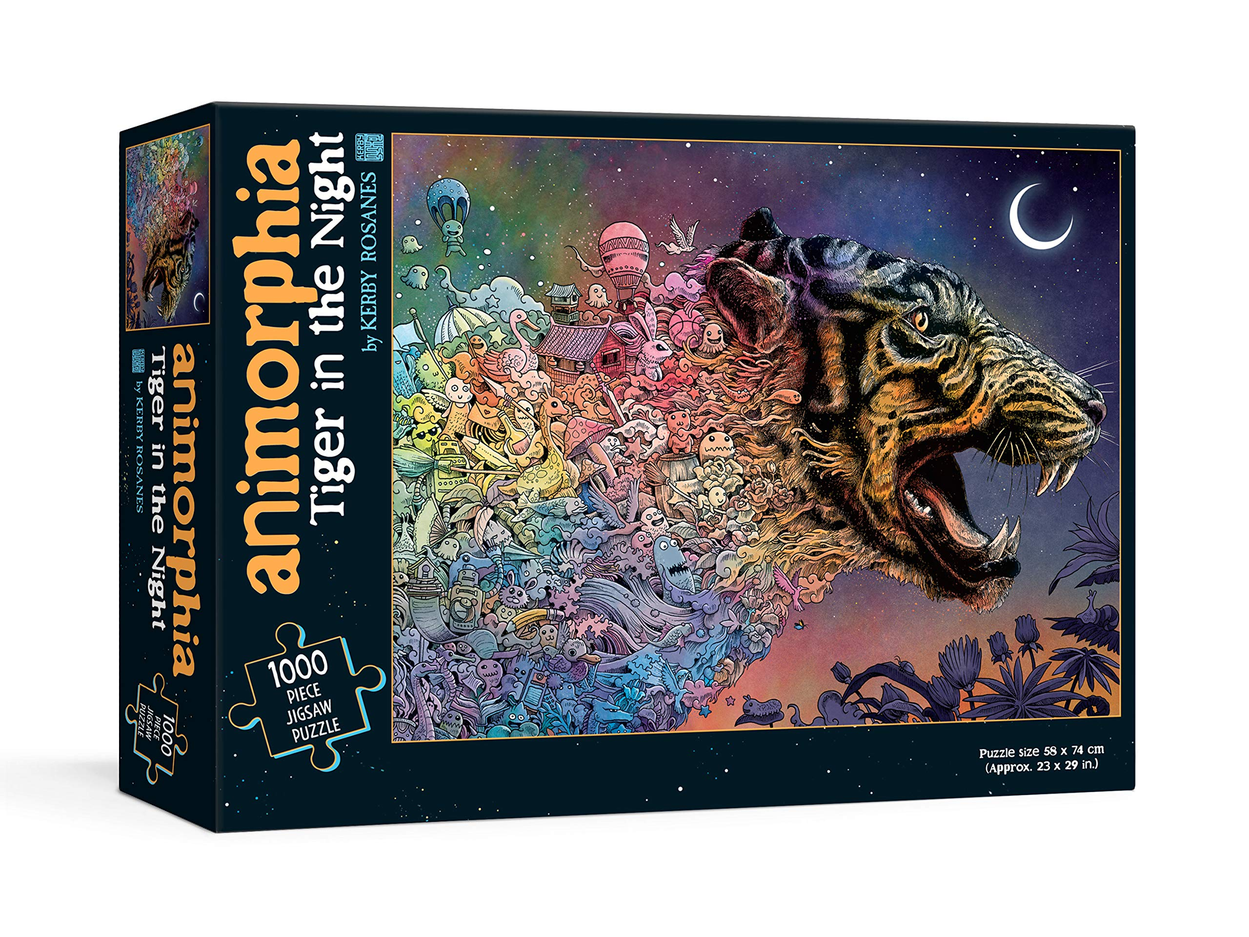 Animorphia Tiger in the Night Puzzle | Kerby Rosanes