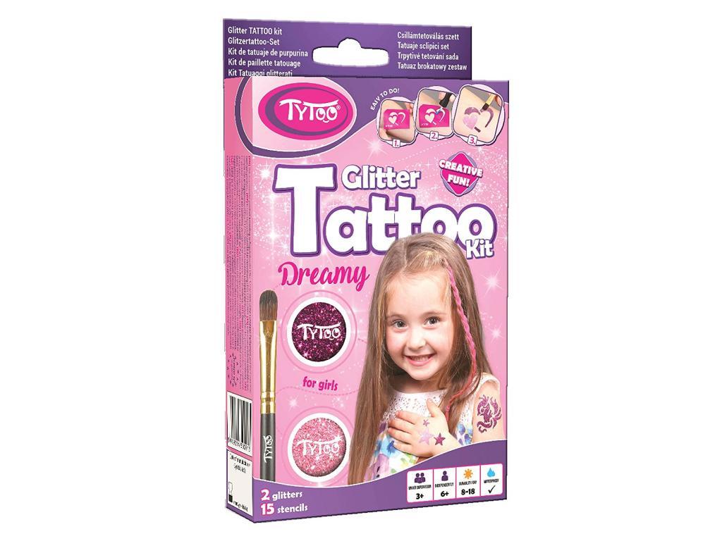 Set tatuaje cu sclipici mini pentru fetite