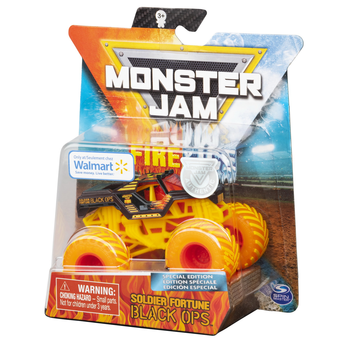 Masinuta Metalica Fire and Ice Soldier Fortune Black OPS | Monster Jam