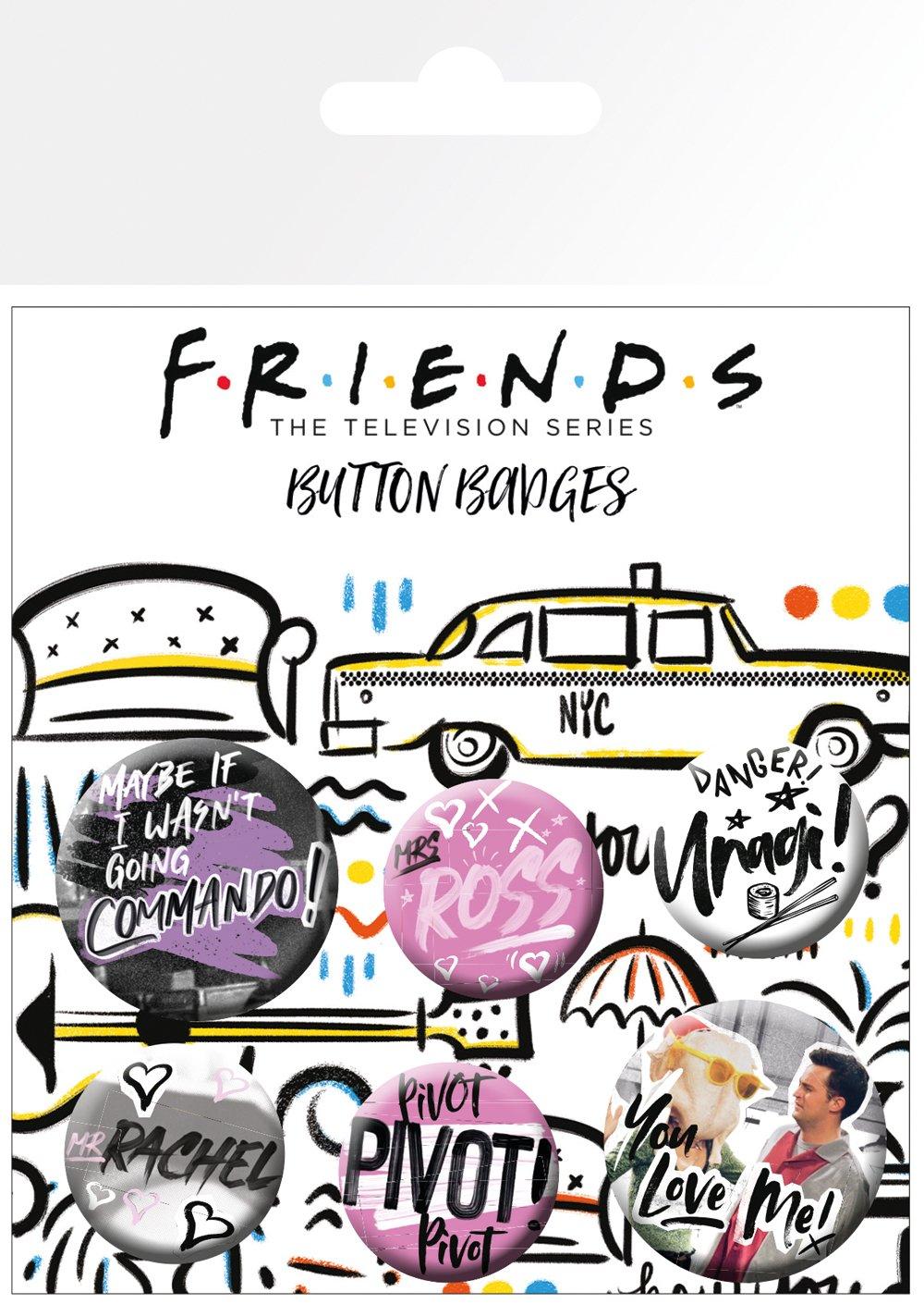 Set insigne -Friends Doodle