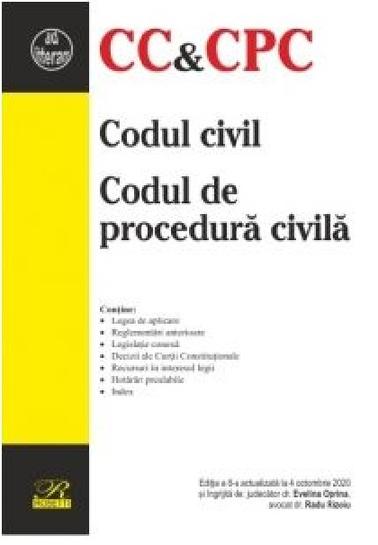 Imagine Codul Civil - De Procedura Civila - Evelina Oprina, Radu Rizoiu
