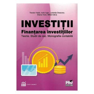 Investitii. Finantarea investitiilor