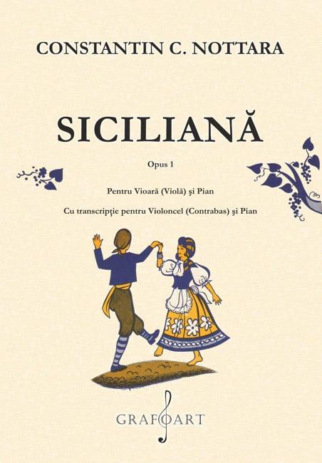 Siciliana - Opus 1, pentru vioara (viola) si pian