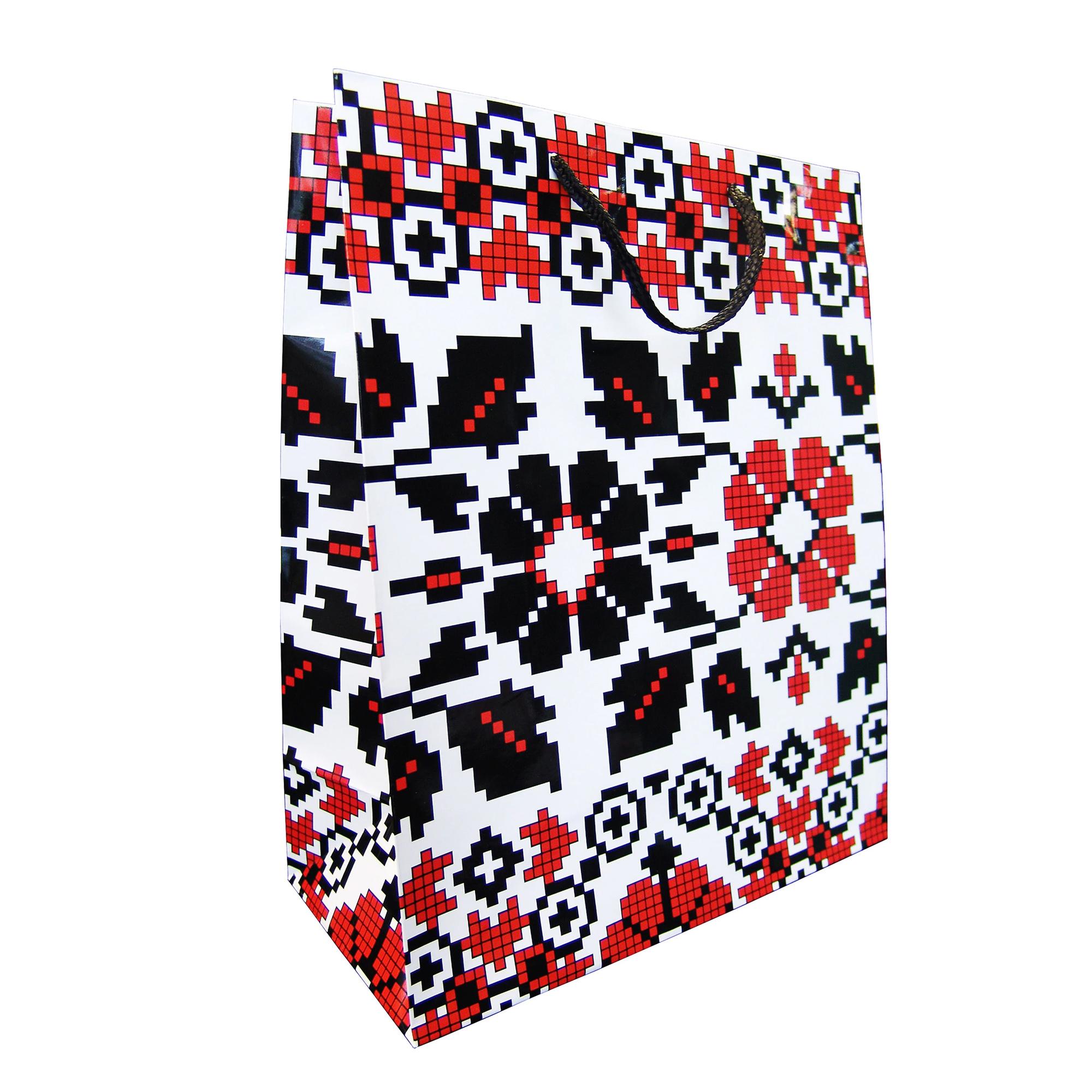 Punga pentru cadou - Motive traditionale, flori, marime L