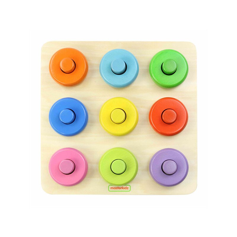 Puzzle din lemn - Sortator de culori | Masterkidz