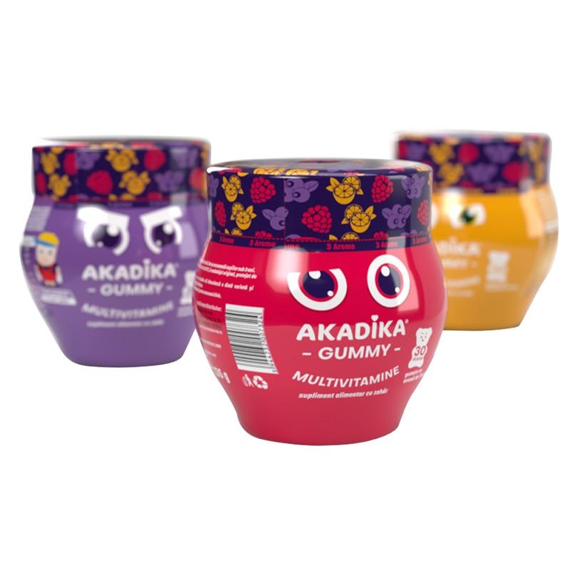 Supliment alimentar Akadika Gummy Multivitamine - 3 Arome