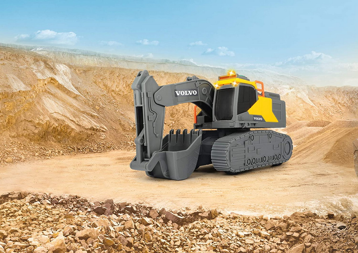 Jucarie - Volvo Excavator cu senile / Tracked Excavator | Dickie Toys - 1