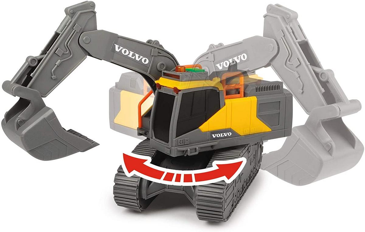 Jucarie - Volvo Excavator cu senile / Tracked Excavator | Dickie Toys - 3