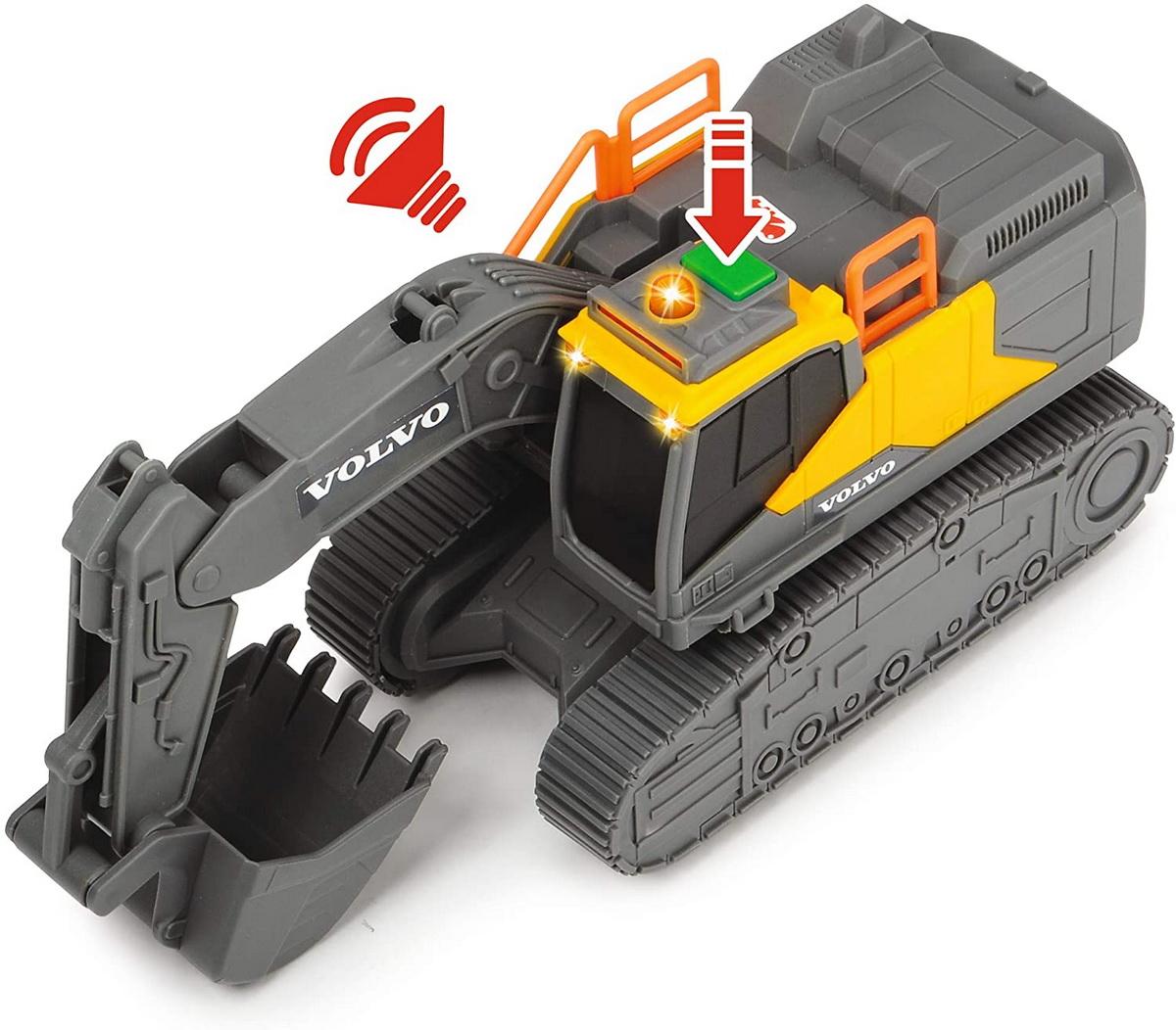 Jucarie - Volvo Excavator cu senile / Tracked Excavator | Dickie Toys - 4
