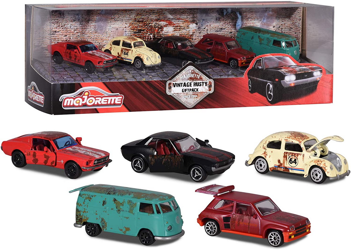 Set masinute - Majorette Vintage Rusty Giftpack | Majorette - 6
