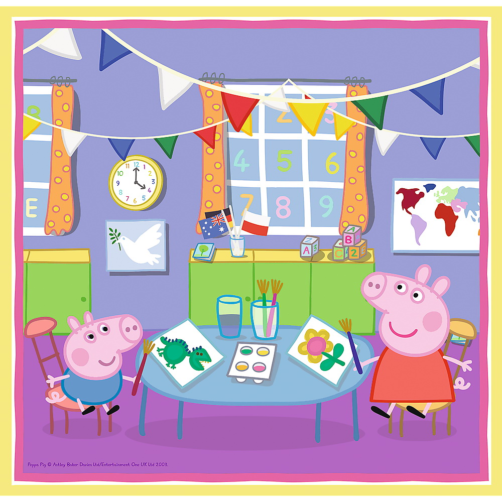 Puzzle 3 in 1 - Peppa Pig Playing at School | Trefl - 2