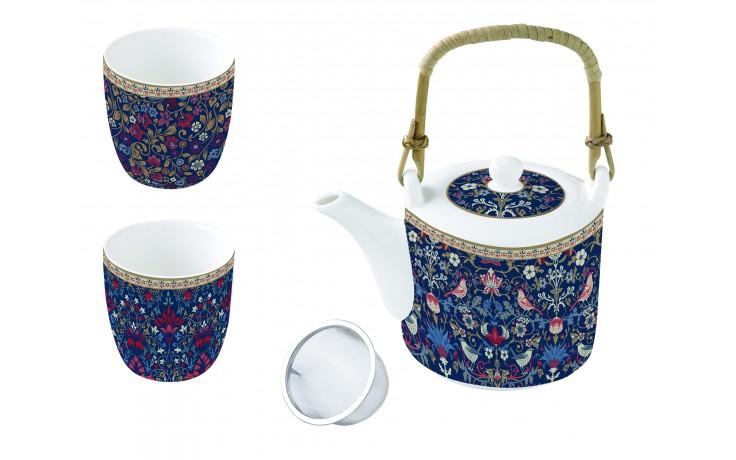 Set ceainic cu infuzor si 2 cesti - Floral Chintz