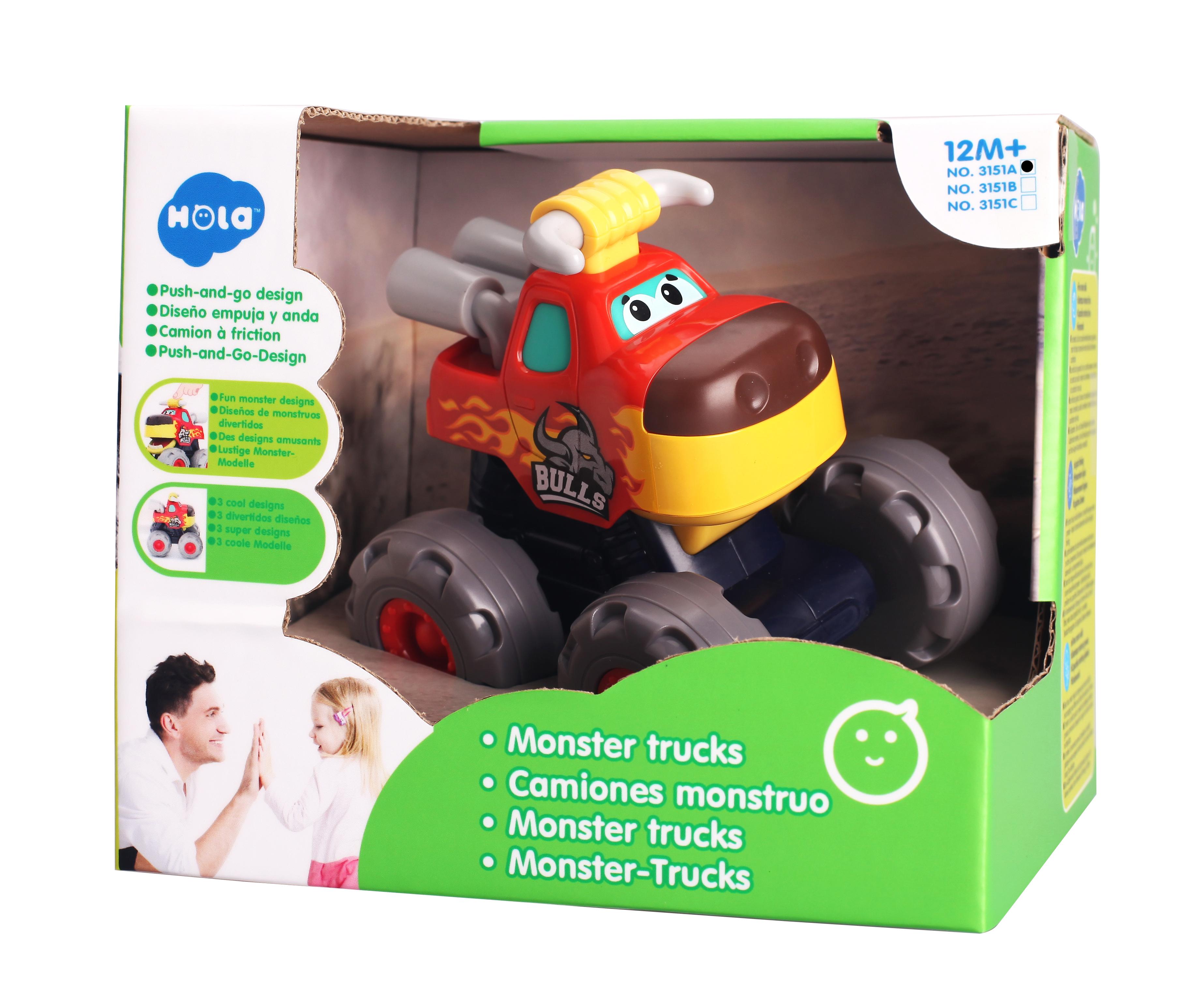 Masinuta Bebe Monster Truck, Taurasul cel Furios   Hola