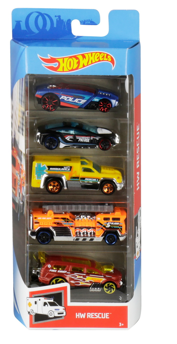 Set 5 Masini Hot Wheels Rescue | HOT WHEELS - Vehicule