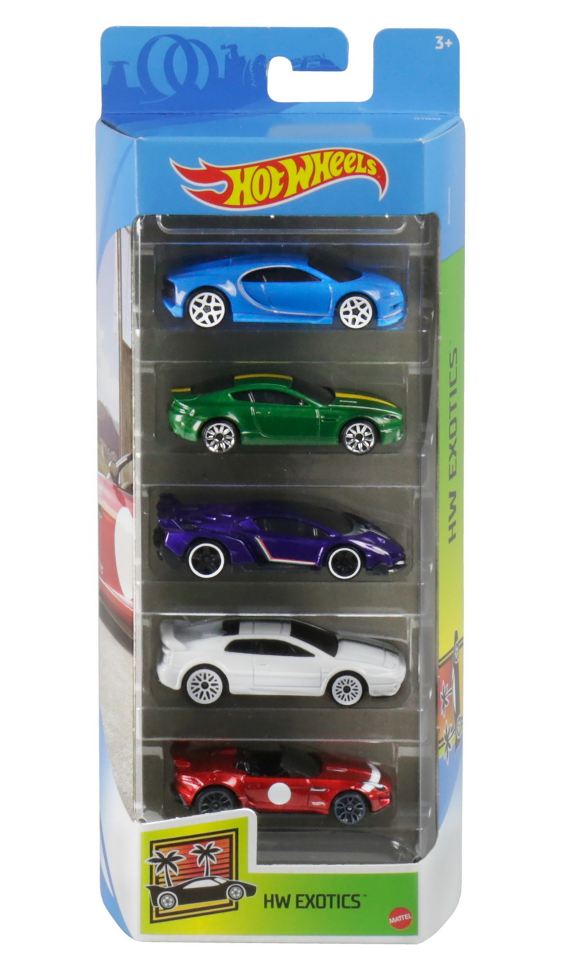 Set 5 Masini Hot Wheels Design Exotics | HOT WHEELS - Vehicule